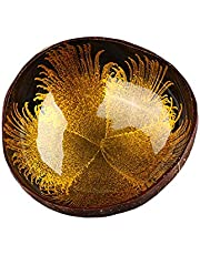 Shiker Handmade Natural Coconut Bowl, Coconut Shell Storage Bowl Coconut Ornament Creative Storage Bowl for Keys, Candy Bowl, Candy Dish, Coconut Shell Bowl, Salad Bowl (Style 1)