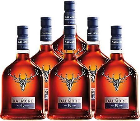 Whisky Dalmore 18 años de 70 cl - D.O. Escocia - Bodegas Gonzalez Byass (Pack de 6 botellas)