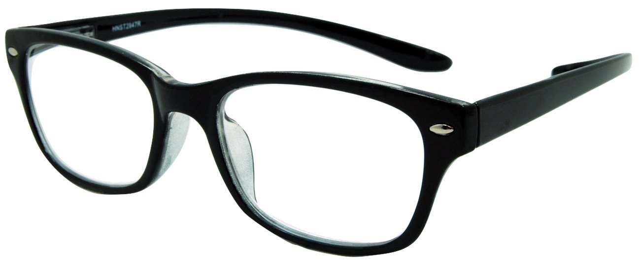 In Style Eyes Rubber Neckin' Classic, Lightweight Reading Glasses BLACK/1.50