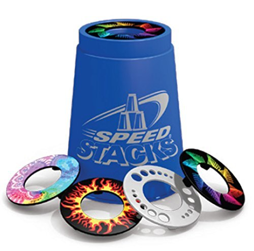 SNAP TOPS - A set of 12 Assorted Colors/Designs Speed Stacks Snap Tops by Speed Stacks