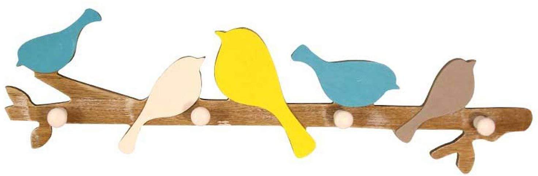 Azul Perchero Decoraci/ón para Colgar en la Pared Muebles para el hogar 4 Ganchos BAIJJ Percha Abrigo Infantil Sombrero Perchero de Madera