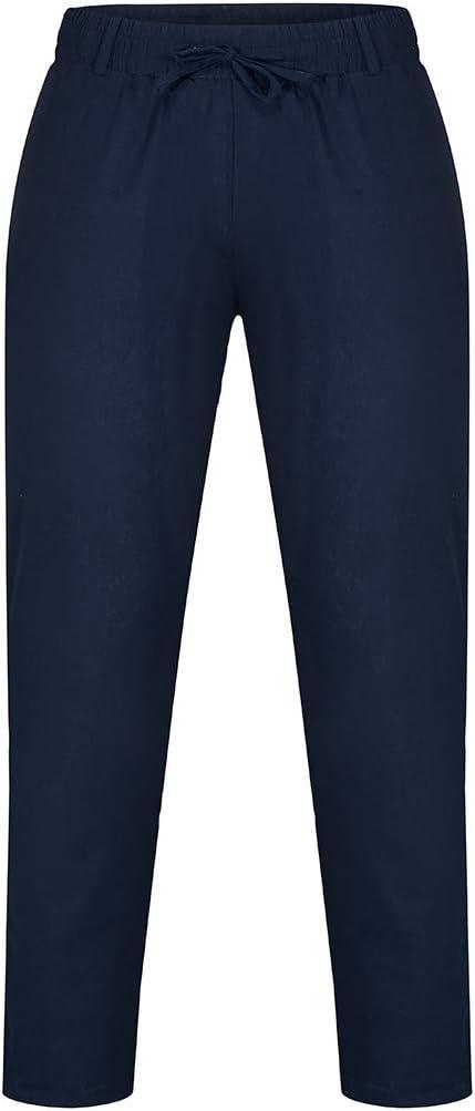 CAOQAO Pantalones Hombre Pure Color Overol Casual Pocket Sport ...