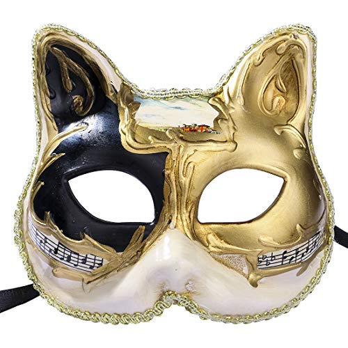 Venetian Cat Child Mask Halloween Costume Dress Up Party Wear(cat for Child) -