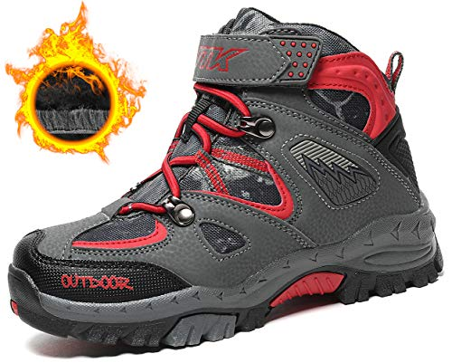 Kids Hiking Boots Boys Waterproof Hiker Boot Hiking Shoes for Girls -