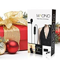 MAONO Lavalier Microphone, Hands Free Clip-on Lapel Mic with Omnidirectional Condenser for DSLR,Camera,iPhone,Android,Samsung,Sony,PC,Laptop (236 in) by MAONO