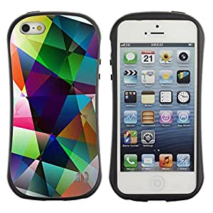Paccase / Suave TPU GEL Caso Carcasa de Protección Funda para - Art Shapes Pastel Bright - Apple Iphone 5 / 5S