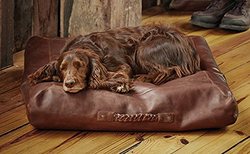 Orvis Square Leather Dog Bed Cover / Small Dogs Up To 40 Lbs., Small by Orvis
