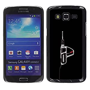 GOODTHINGS Funda Imagen Diseño Carcasa Tapa Trasera Negro Cover Skin Case para Samsung Galaxy Grand 2 SM-G7102 SM-G7105 - herramienta eléctrica taladro herramienta varonil negro
