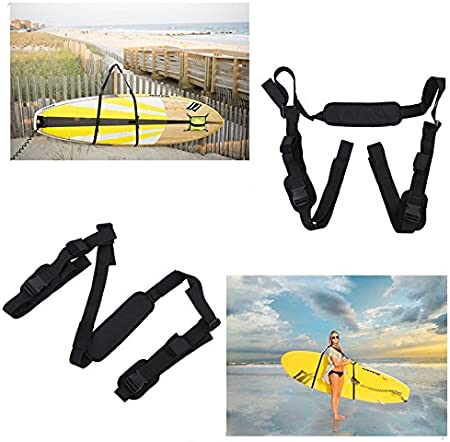 Portable Adjustable Nylon Carrying Strap for Kayak Canoe Surfboard with Paddle Loop with A Storage Bag Keenso Surfboard Carrying Strap