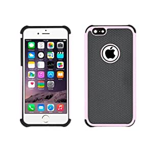 Football trama Plastic Case para iPhone 6(Pink)