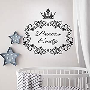 Decoración de la habitación de la niña Princesa Nombre ...