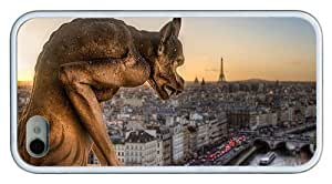 Hipster coolest iPhone 4 case gargoyle statue paris TPU White for Apple iPhone 4/4S