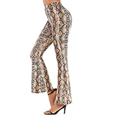 Closure Type:Elastic Waist Style:Streetwear Pattern Type:Leopard color:khaki beige pants Gender:Women Fabric Type:Laminated Fabric Material:Cotton Polyester Rayon length:full length pants Model Number:049 Decoration:Pattern Waist Type:High pa...
