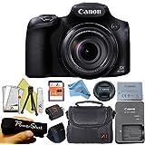 Canon Powershot SX60 16.1MP Digital Camera 65x Optical Zoom Lens 3-inch LCD Tilt Screen + Case + 64 GB Card + Reader + 6pc Starter Set