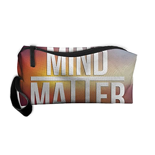 Kla Ju Portable Pen Bag Purse Pouch Mind Over Matter Stationery Storage Organizer Cosmetic Holder