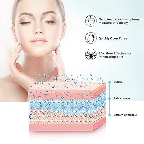 Facial Steamer EZBASICS Ionic Face Steamer for Home Facial, Warm Mist Humidifier Atomizer for Face Sauna Spa Sinuses…