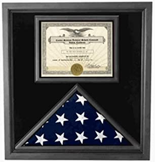 product image for Premium USA-Made Solid Wood Flag Document Case Black Finish,