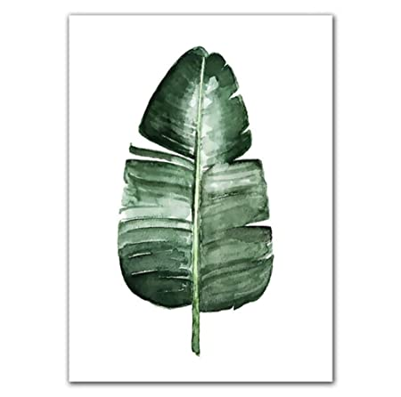 waitingposter Lienzo de póster Acuarela Planta Tropical ...