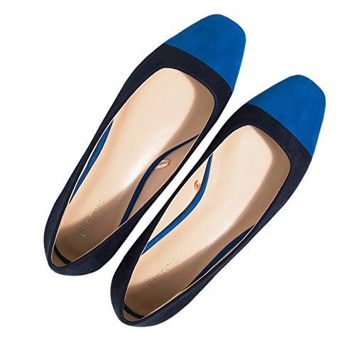 Parfois Bailarinas Bicolor - Mujeres Azul Marino