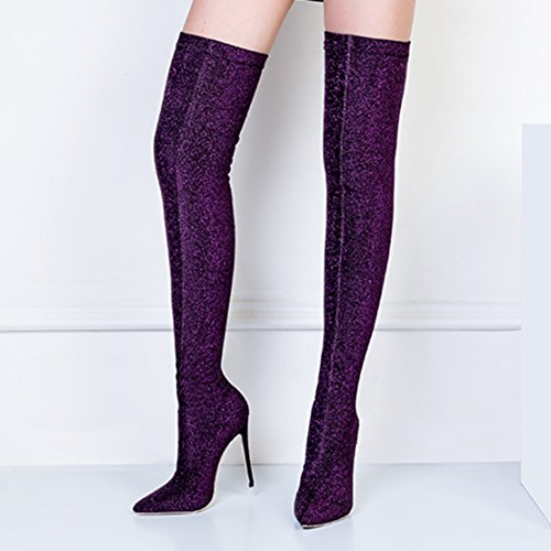 AIYOUMEI Women's Classic Boot Purple 3T7qbEFWN