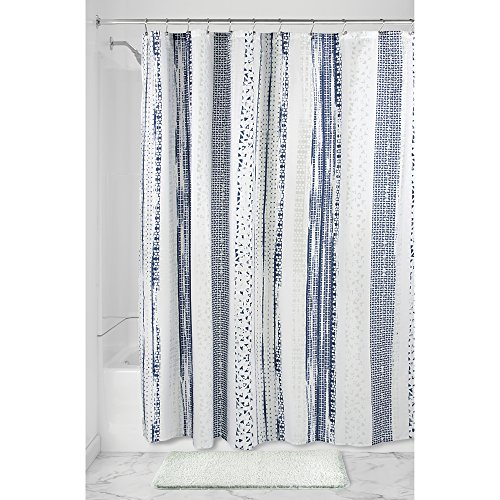 shower curtain navy - 6