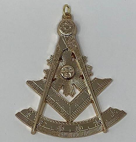 Amazon com : Masonic Past Master Collar Jewel in Gold Tone