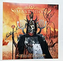 This is a great 11x11 matte finish novelty album flat photo for the album entitled Emperor of Sand signed by the heavy metal band Mastodon . Their album The Hunter features the song Curl of the Burl , which was nominated for a Grammy for Bes...