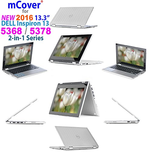 iPearl mCover Hard Shell Case for 2016 13.3 Dell Inspiron 13 5368/5378 2-in-1 Convertible (NOT Compatible with Other Dell Inspiron 5000 Series Models) Laptop (Clear)