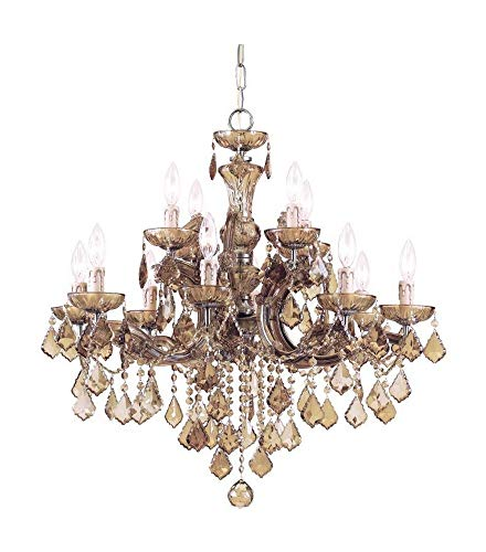 Crystorama 4479-AB-GTS Crystal Eight Light Chandeliers from Maria Theresa collection in Brass-Antiquefinish,