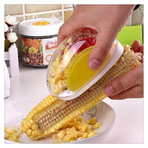 FTXJ Kitchen Cute Shape Corn Stripper Cutter Easy Grip Kernels Remover Shaver
