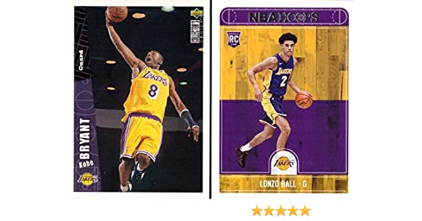 322ea6d4f20 Los Angeles Lakers Kobe and Lonzo Rookie Card Lot of 2 - 1996-97 Upper Deck  Collector s Choice Kobe Bryant Rookie Card and 2017-18 Panini NBA Hoops  Lonzo ...
