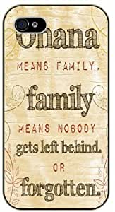 diy phone caseOhana means family, family means nobody gets left behind or forgotten - Inspired by Lilo And Stitch - iphone 5c black plastic case / Inspiration Walt Disney quotesdiy phone case