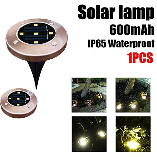 SUJING LED Solar Ground Lights IP65 Waterproof Solar Garden Light Solar Path Lights Garden Landscape Lighting