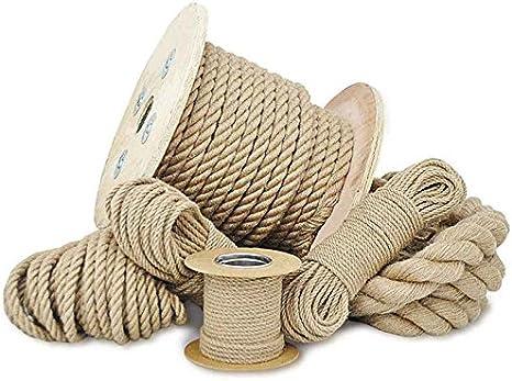 Seilwerk STANKE 5 m Cuerda de algod/ón 20 mm fibras naturales rizada aparejo
