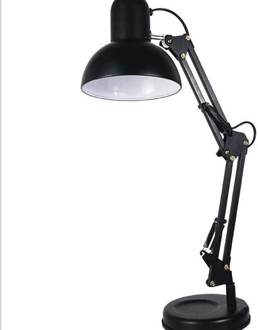Lámpara de Mesa LED - Luz Flexible Negra Brazo Largo Lámpara de ...
