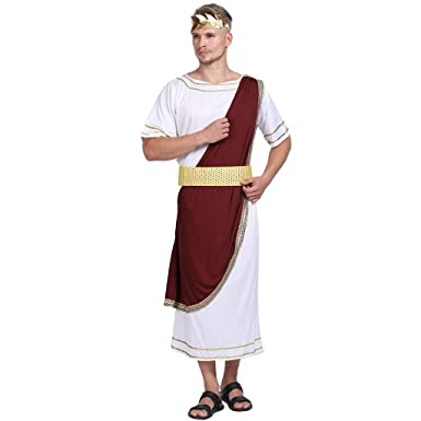 8af469d33 Amazon.com: EraSpooky Adult Emperor of Rome Caesar Costume, OneSize:  Clothing