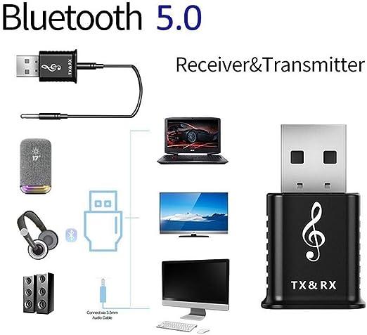 Accesorios de computador Adaptadores Bluetooth USB 2 en 1 5.0 Transmisor Bluetooth Receptor Computadora Altavoz TV Adaptador de audio inalámbrico for automóvil, Utilícelo for conectar su dispositivo,: Amazon.es: Hogar