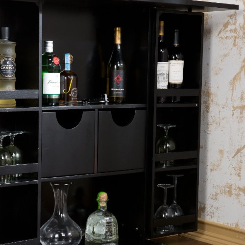 Southern Enterprises Fold Away Bar Cabinet Black Finish Buy Online In Uae Kitchen Products