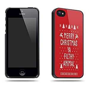Merry Christmas Ya Filthy Animal Funny Phone Case Shell for for Case For HTC One M7 Cover - Black