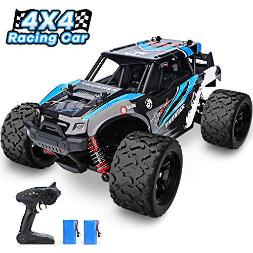 YEZI 1:18 Scale Large RC Cars 36km/h+ Speed, 2.4Ghz All Terrain Waterproof Remote Control Truck,4x4 Electric Rapidly Off Road car for, Remote Control car for Kids Boys and Adults (Best Remote Control Trucks For Adults)