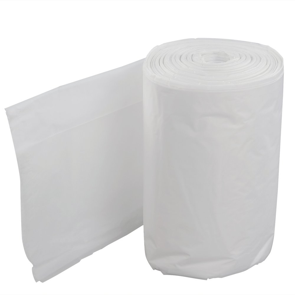 Doryh 39 Gallon Lawn and Leaf Trash Bags, White, 55 Counts