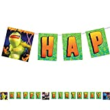Monsters vs. Aliens Plastic Happy Birthday Banner (1ct)