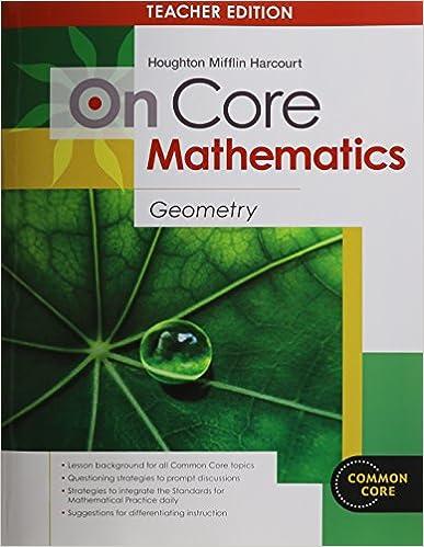 Amazon houghton mifflin harcourt on core mathematics houghton mifflin harcourt on core mathematics teachers guide geometry 2012 1st edition fandeluxe Gallery