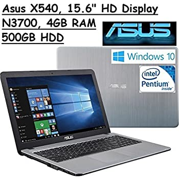 Asus Vivo Book Flagship High Performance 15.6 inch (1366 x 768) HD Laptop PC | Intel Pentium N3700 Quad-Core | 1.60 GHz | 4GB RAM | 500GB HDD | DVDRW | WIFI | Webcam | Windows 10 | Silver