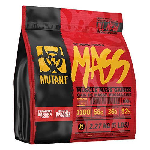 Hard Fast Banana (Mutant Mass - Muscle Mass Gainer Stawberry Banana Creme 5 lbs)