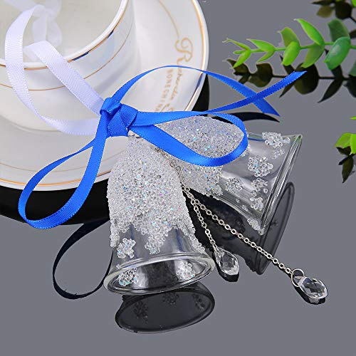 XIANGBAN Christmas Crystal Double Bell Decoration Car Pendant K9 Crystal Ornament