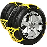 Anti Snow Chains of Car ,SUV Chain Tire Emergency Thickening Anti--Skid Chain -Set of 6-Hop&Fly