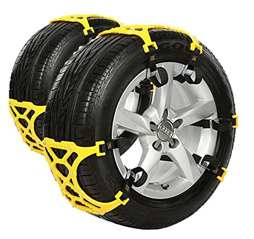 Anti Snow Chains of Car ,SUV Chain Tire Emergency Thickening Anti--Skid Chain Car Snow -Set of 6-Hop&Fly