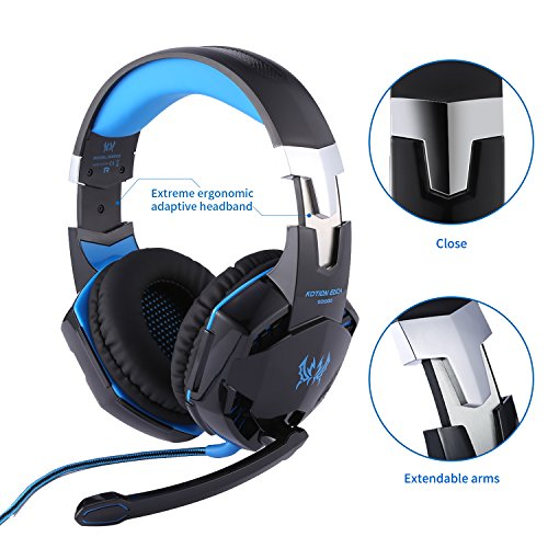 Kotion Each G2000 Gaming Hearphone Bass Over Ear Headset With Noise