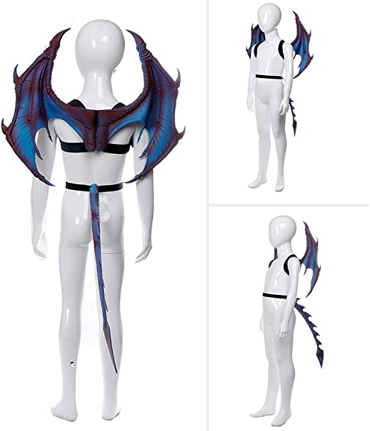 Fayeille Set de cosplay para niños, regalo divertido, alas de cola ...